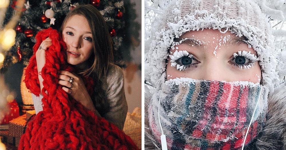 Якутянка спустя год повторила своё знаменитое зимнее фото и рассказала, как добиться такого эффекта