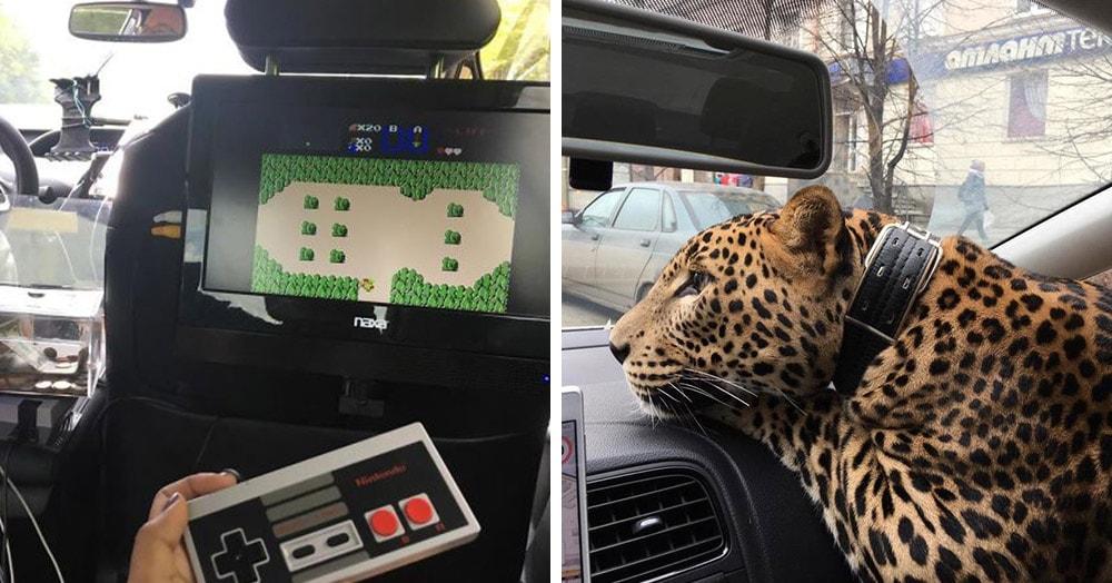 18 фотодоказательств того, что иногда такси — это не только транспорт, но ещё и аттракцион