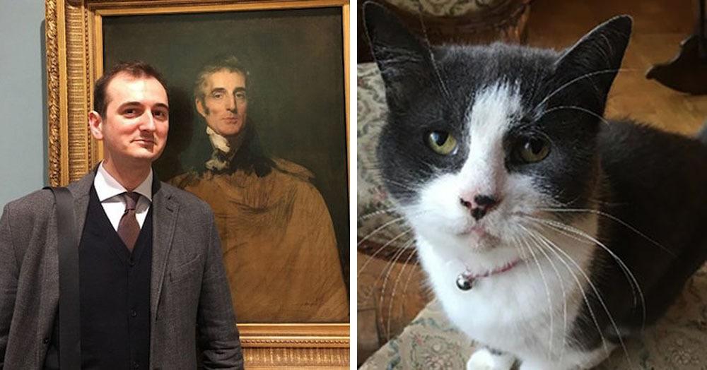 Британец реставрировал картину XVII века, а рядом была его кошка. И ей картина явно не понравилась