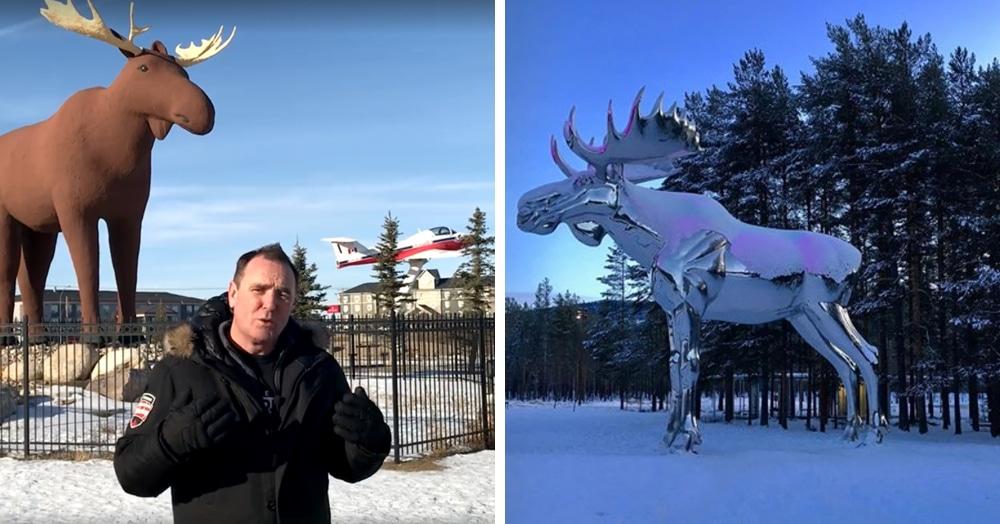 Канада и Норвегия меряются лосями. Победа – дело чести, в ход идут даже шляпы и коньки