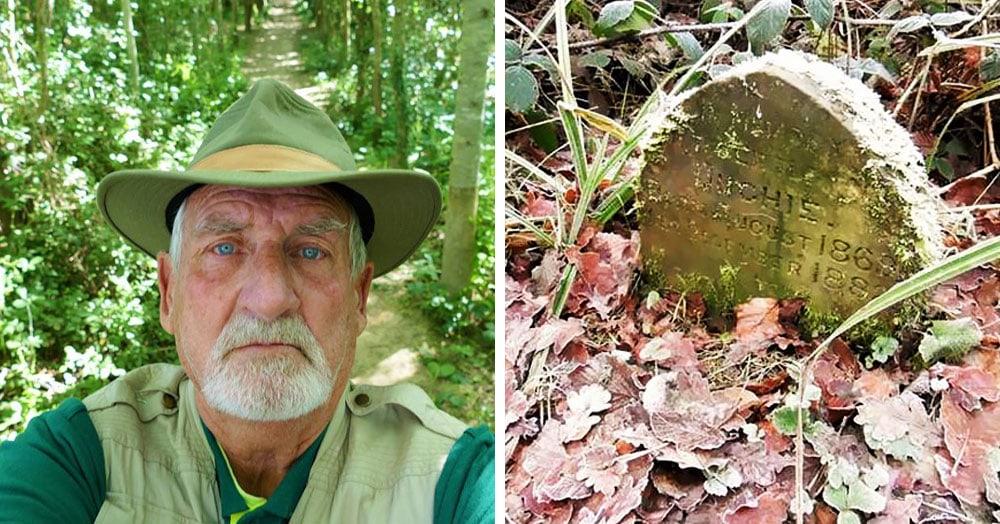 Британец обнаружил лесу надгробие 19 века. И принадлежало оно не иначе как домашнему кролику