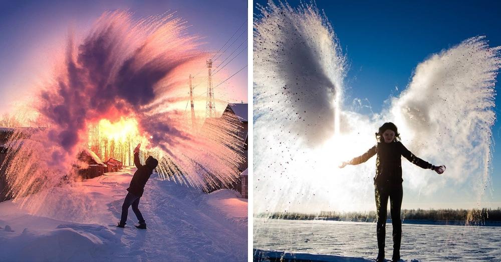 «Дубак челлендж» — эффектный флешмоб из Сибири. Нужны морозы и горячая вода