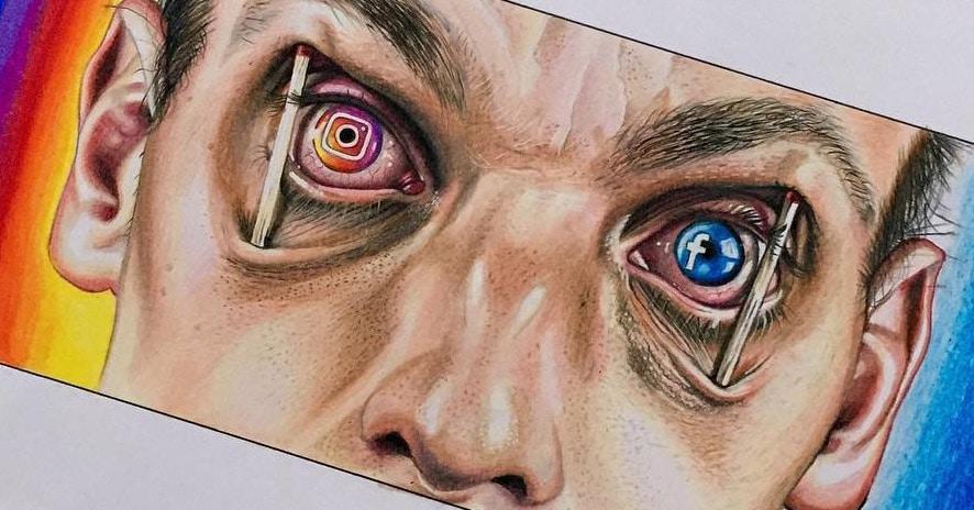 Британский иллюстратор прижучивает современное общество и технологии своими жёсткими карикатурами