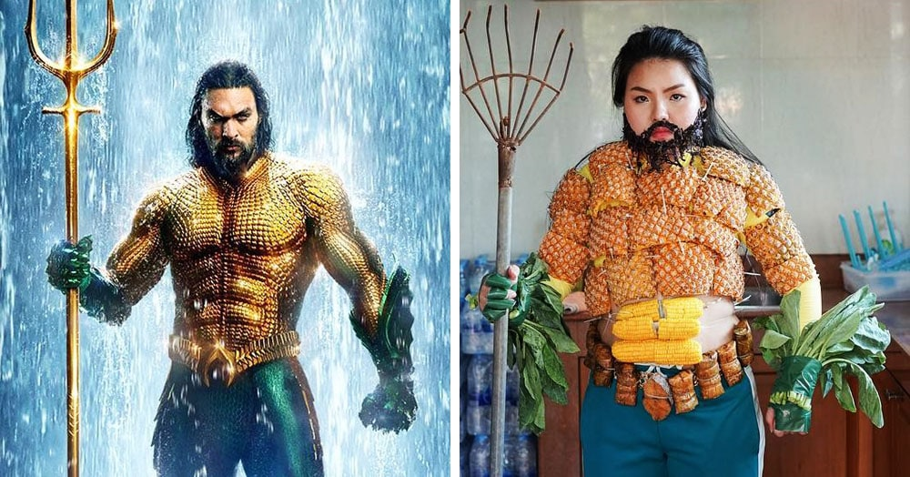 Тайская косплеерша балуется с едой и делает пародии на наряды звёзд из того, что есть в холодильнике