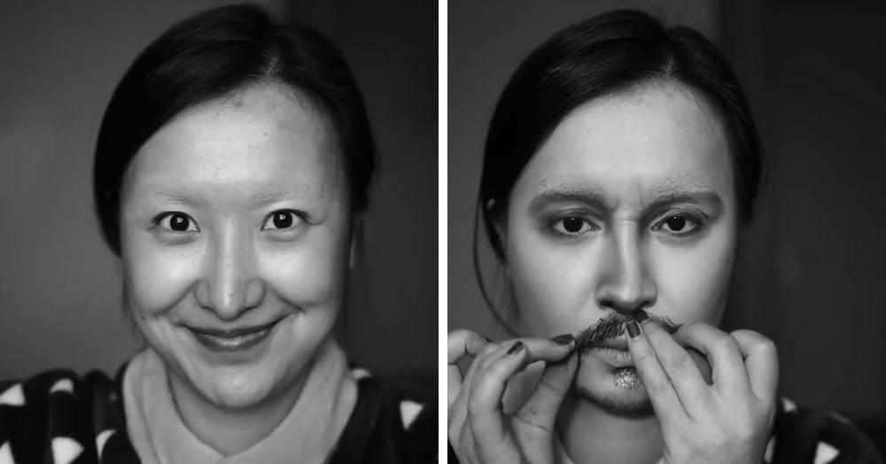 Эта художница из Китая показала, как за 10 шагов с помощью макияжа стать копией Джонни Деппа