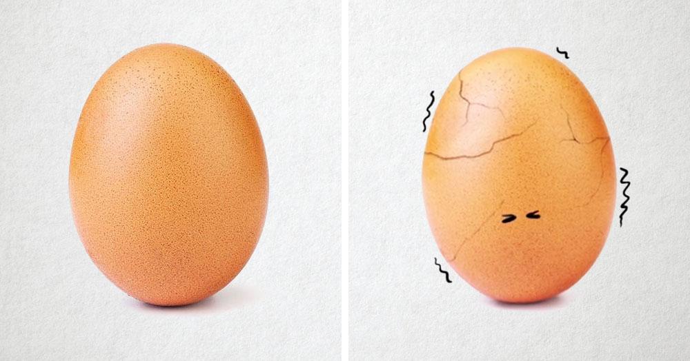 Знаменитое яйцо, побившее все рекорды Инстаграма, лопнуло! И даже записало прощальное послание