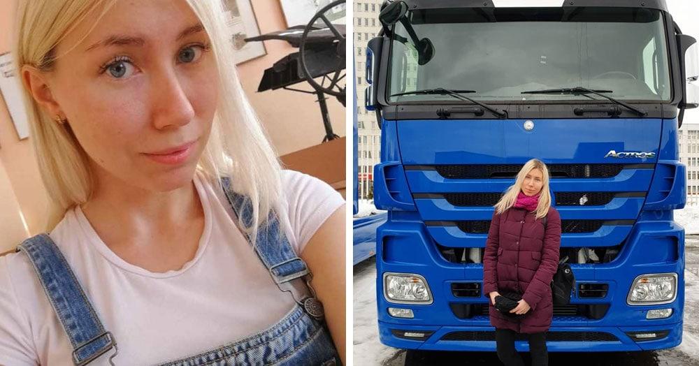 Девушка из Белоруссии рассказывает в своём Инстаграме, как осуществить мечту и стать дальнобойщицей