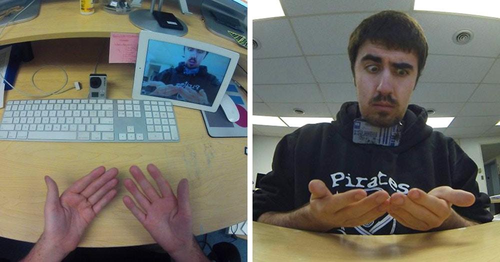 У парня в сети спросили, как он сделал фото своих рук. Он показал, но вопросов стало только больше