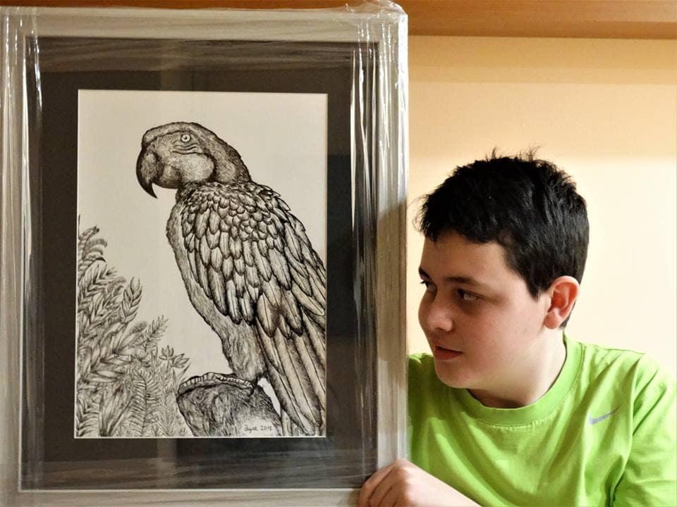 29261545 1827756844188483 4500541352957706240 n - Этот сербский мальчик с 2 лет мечтал быть художником. Сейчас ему 16, и прогресс просто поразительный