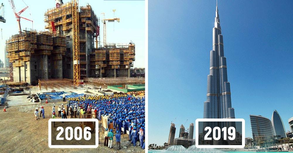 15 снимков знаменитых архитектурных сооружений в процессе их строительства