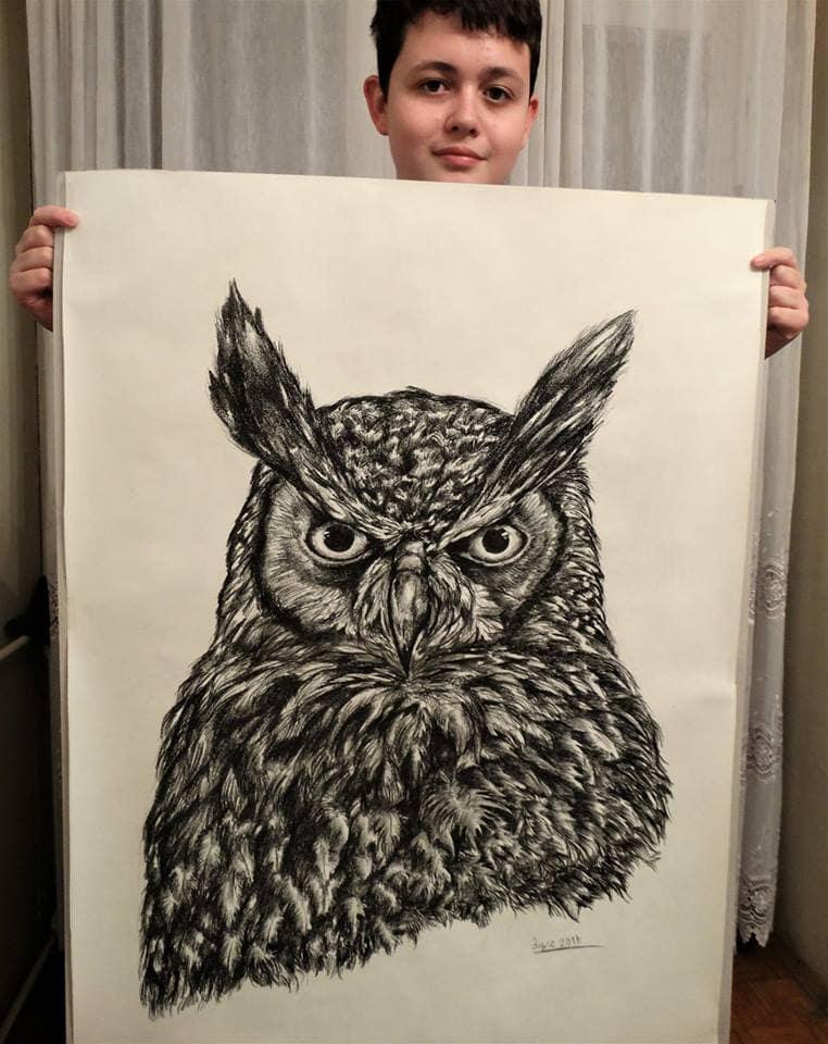 42524130 1957696321194534 5495713287217610752 n 1 - Этот сербский мальчик с 2 лет мечтал быть художником. Сейчас ему 16, и прогресс просто поразительный
