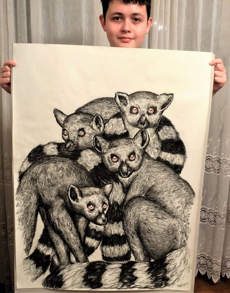 43171573 1962266480737518 5878031918489927680 n - Этот сербский мальчик с 2 лет мечтал быть художником. Сейчас ему 16, и прогресс просто поразительный