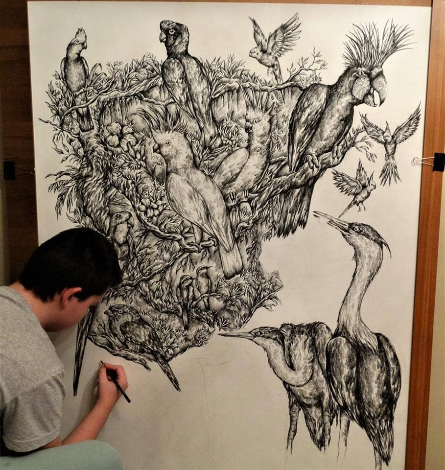 46511195 1984480691849430 8686859793278697472 n - Этот сербский мальчик с 2 лет мечтал быть художником. Сейчас ему 16, и прогресс просто поразительный
