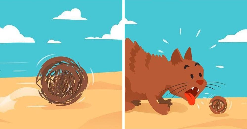 20 комиксов от казанского иллюстратора, в которых всё вечно переворачивается с ног на голову
