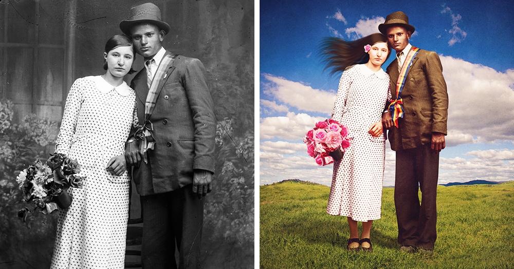 Австралийка отретушировала старые снимки и превратила их в сказочные иллюстрации