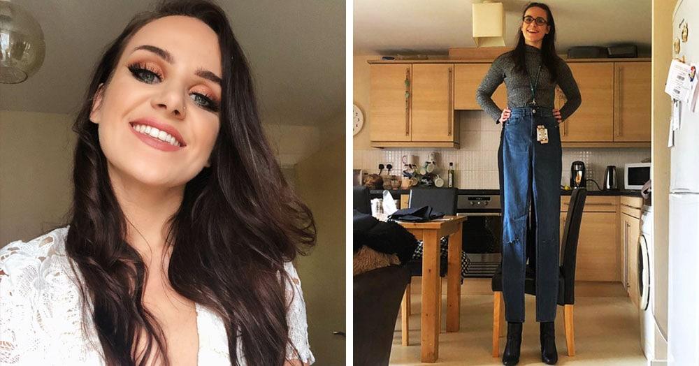 Англичанка неудачно заказала джинсы в онлайн-магазине, ведь ей пришли штаны, достойные Гулливера