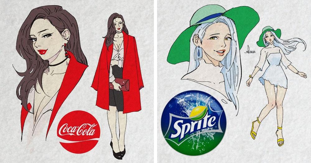 Художник из Канады представил, как выглядели бы известные напитки, будь они людьми