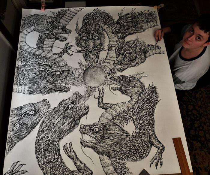 my works 5c756f19a3e2a  700 1 - Этот сербский мальчик с 2 лет мечтал быть художником. Сейчас ему 16, и прогресс просто поразительный