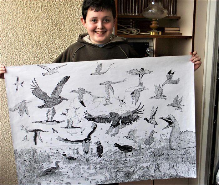 my works 5c78f00800d7a  700 - Этот сербский мальчик с 2 лет мечтал быть художником. Сейчас ему 16, и прогресс просто поразительный