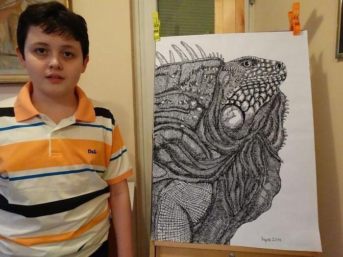 my works 5c78f03f69740  700 - Этот сербский мальчик с 2 лет мечтал быть художником. Сейчас ему 16, и прогресс просто поразительный