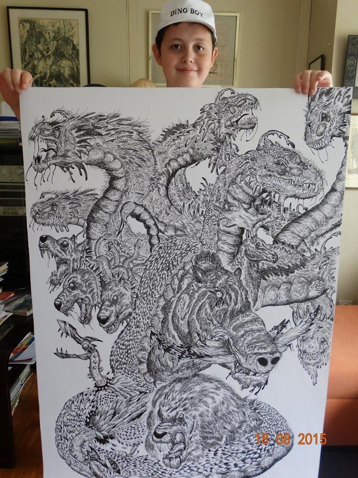 my works 5c78f07078802  700 - Этот сербский мальчик с 2 лет мечтал быть художником. Сейчас ему 16, и прогресс просто поразительный