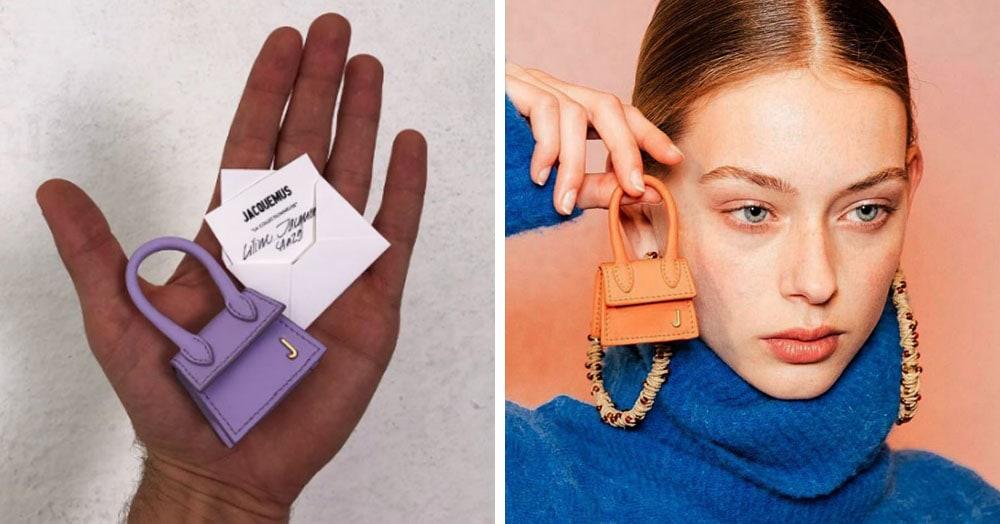 Модный дом представил сумочку размером меньше ладони. В соцсетях шутят о том, что туда поместится