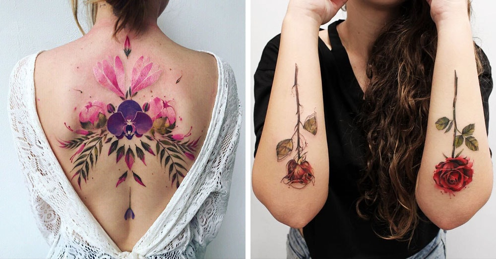 17 цветочных татуировок для тех, кто не любит возиться с живыми растениями