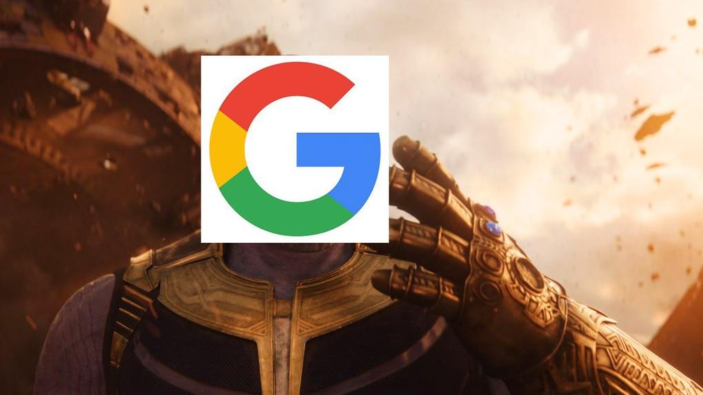 В Google появилась перчатка Таноса из «Мстителей», которая уничтожает половину результатов поиска