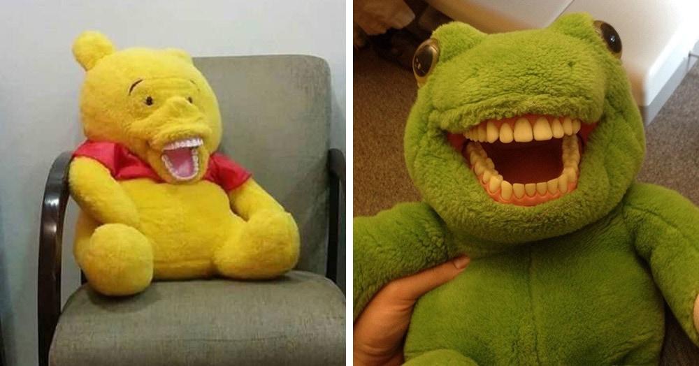 18 мягких игрушек из кабинетов детских стоматологов, от вида которых тянет перекреститься