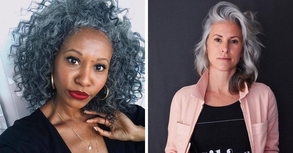 20 женщин, которые перестали красить волосы и сломали стереотип о том, что седины надо стесняться