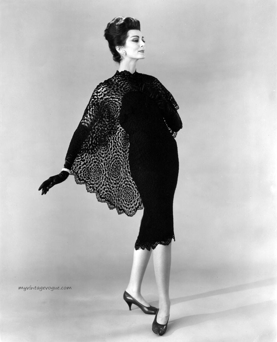 carmen dellorefice wearing dress by werle 1960s - Эта 87-летняя модель занесена в Книгу рекордов Гиннесса. И она всё ещё не закончила свою карьеру