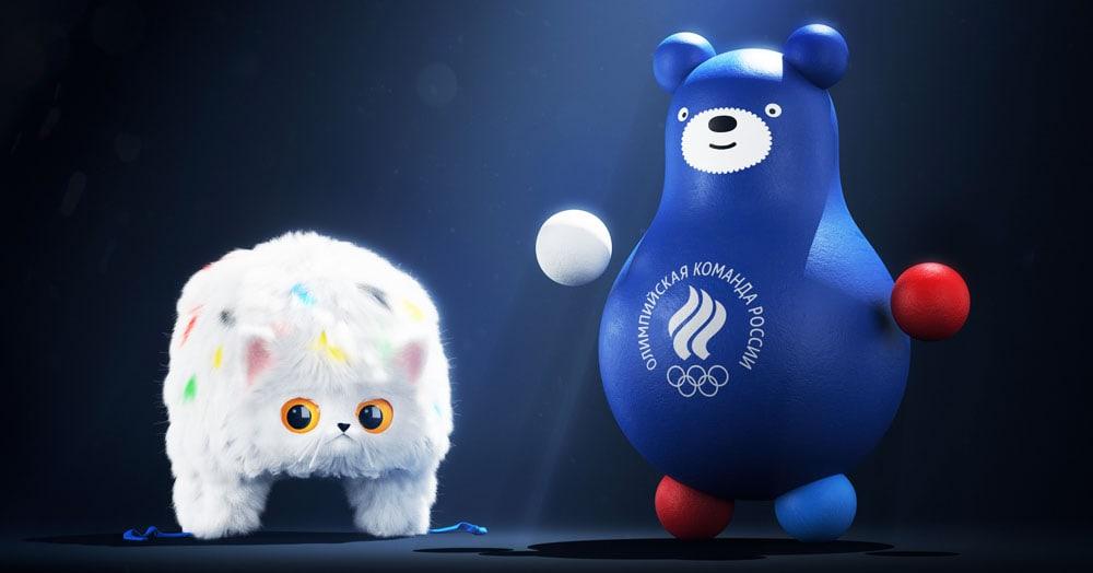 Шапка-кошанка и медведь-неваляшка: студия Артемия Лебедева представила талисманы «Команды России»