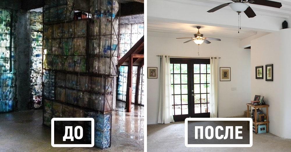 Канадцу надоели горы пластиковых бутылок, и он построил из них целую деревню. С замком!