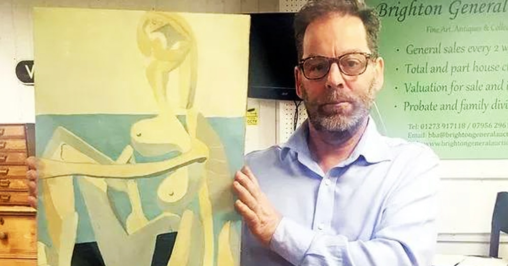 Мужчина купил на барахолке картину из-за красивой рамы. А она оказалась не хухры-мухры, а Пикассо