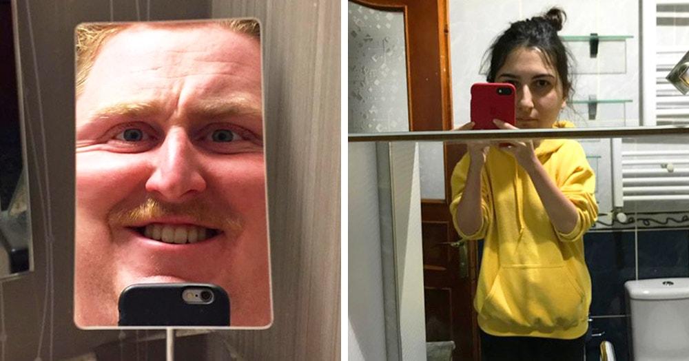 20 случаев, когда зеркала в ванной комнате устраивали людям камеди-шоу