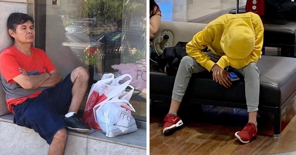 20 фотографий мужчин, которые ждут своих дам в магазинах. Максимальная концентрация страданий