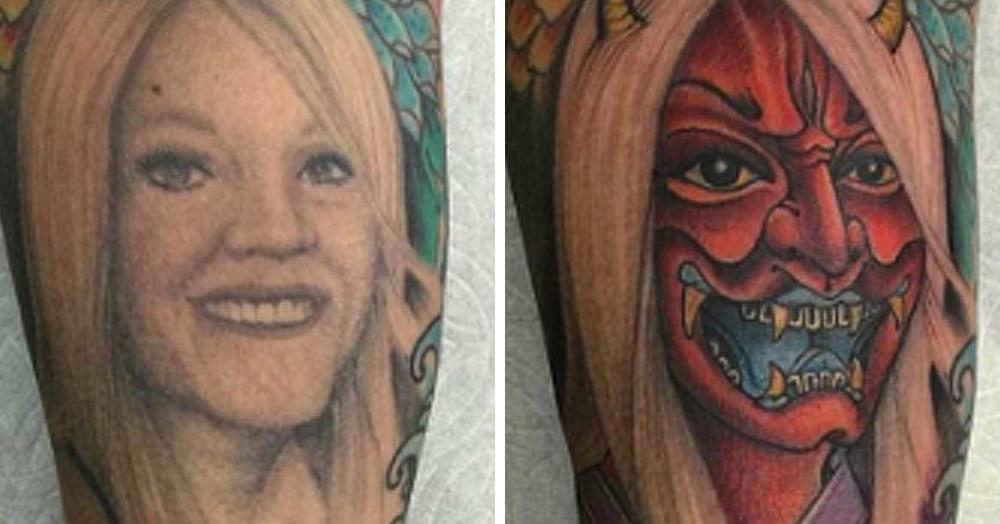 15 примеров того, как люди креативно перекрывают татуировки, связанные с бывшими