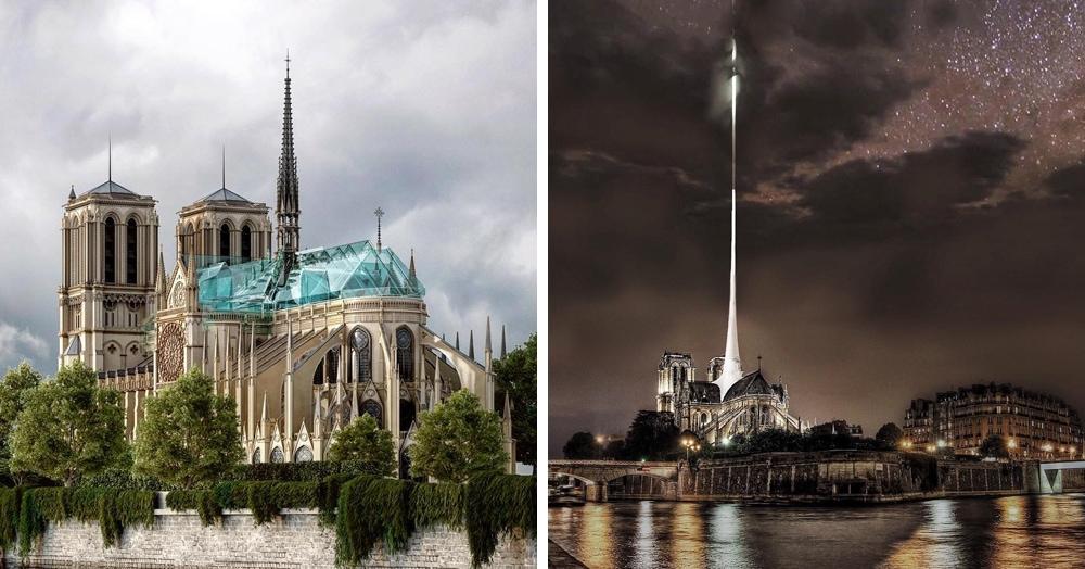 20 необычных проектов реконструкции Нотр-Дама от архитекторов со всего мира