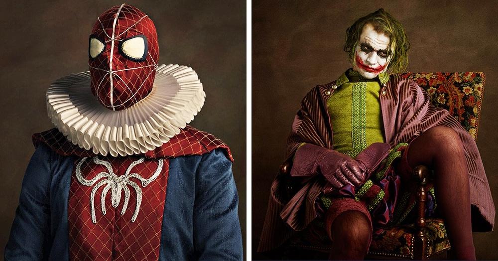 Фотограф представил и показал, как выглядели бы известные персонажи, живи они в прошлых веках