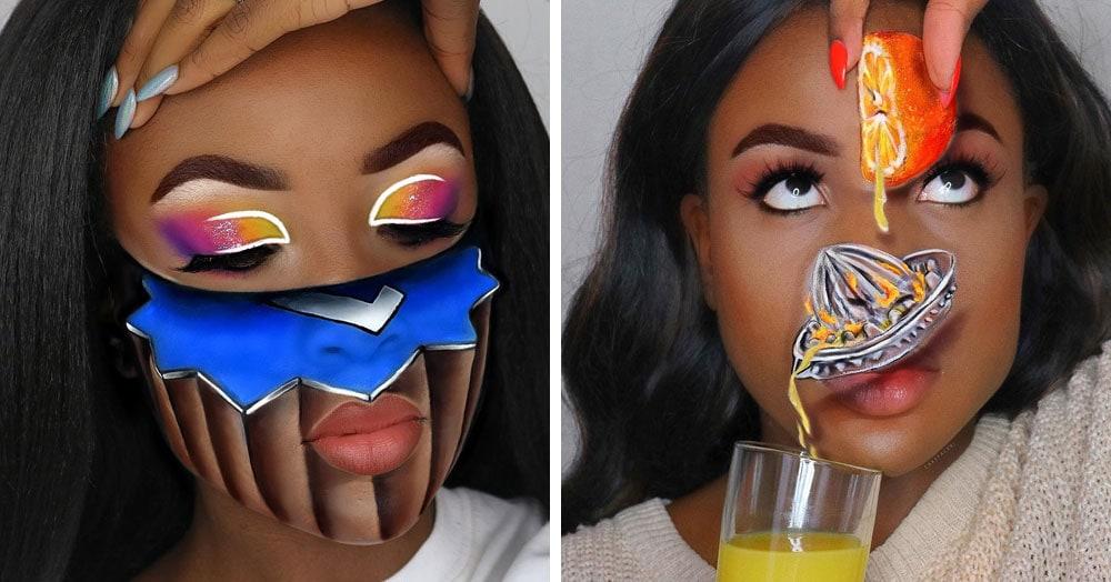 20 примеров нереального 3D-макияжа от британского визажиста, которая, кажется, колдует вне Хогвартса