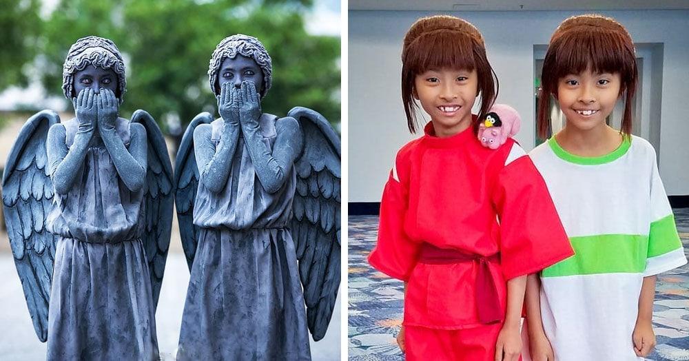 11-летние близняшки так круто копируют киноперсонажей, что им позавидуют даже бывалые косплееры