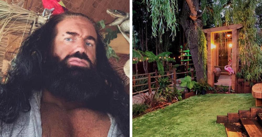 Пара 6 лет не ездила в отпуск, и муж решил исправить ситуацию, превратив их сад в тропический рай