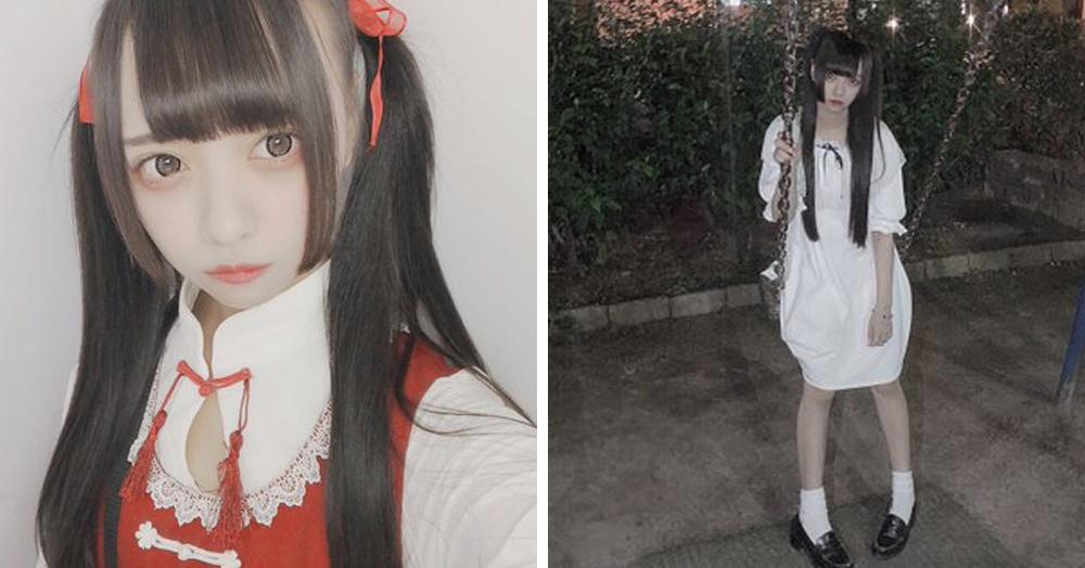 Японка хотела сделать милое фото на качелях, но что-то пошло не так, и она превратилась в призрака