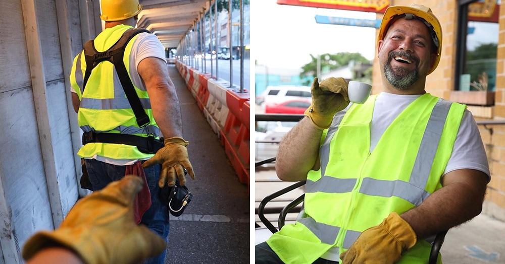 Простой строитель и весёлый папаша из Техаса пародировал типичные фото из Инстаграма и стал звездой