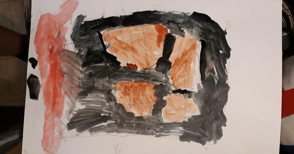Психолог была обеспокоена мрачным рисунком ребёнка. А он, видимо, просто хотел есть