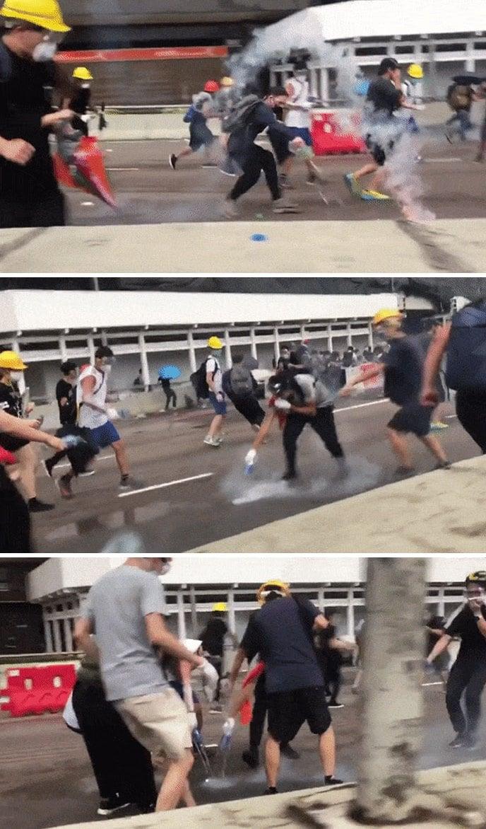 419849856189 4894 5d08fc0587bc2  700 1 - 15 снимков с акции протеста в Гонконге, которые показывают дисциплину и уважение демонстрантов