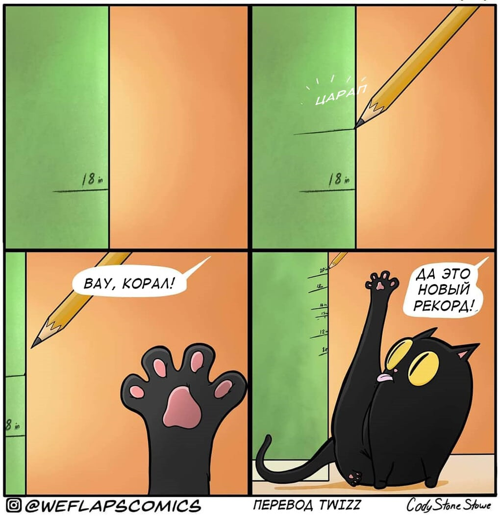 5 1 - 19 комиксов, которые демонстрируют, что жизнь с котом — это отдельная профессия