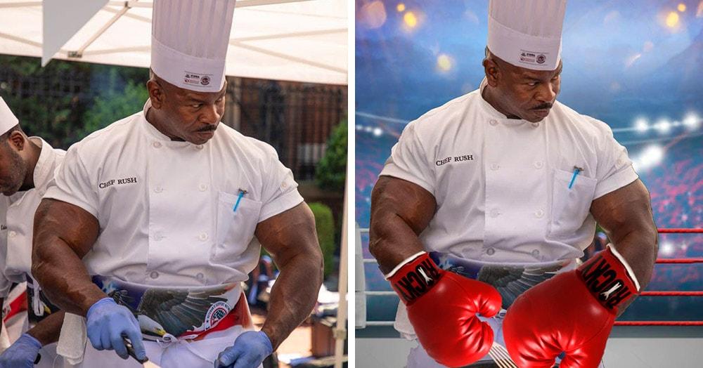 Шеф-повар Белого дома Андре Раш оказался таким суровым и мускулистым, что быстро стал героем фотожаб