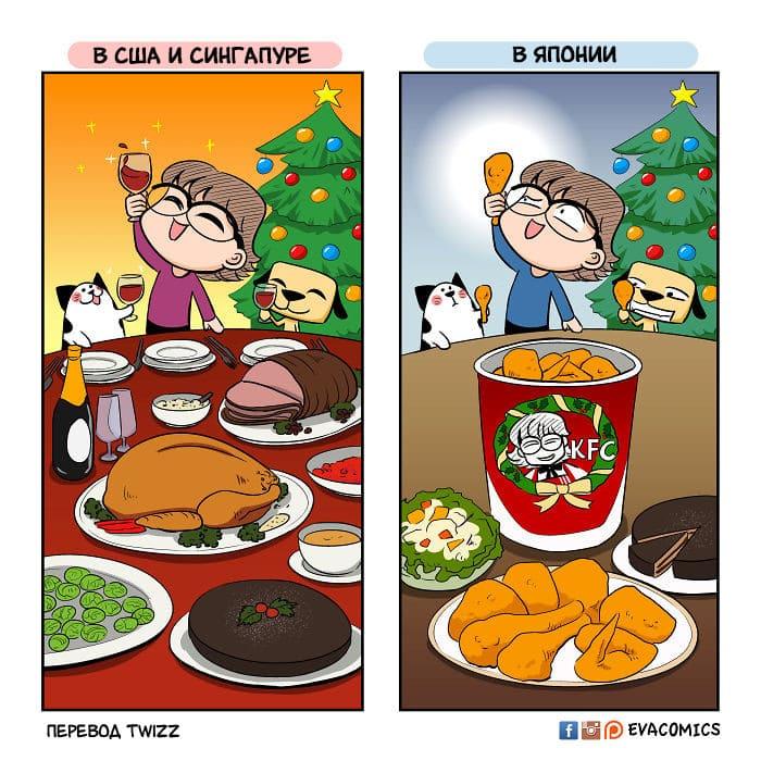 7 9 - 16 комиксов о культурных различиях Японии и других стран
