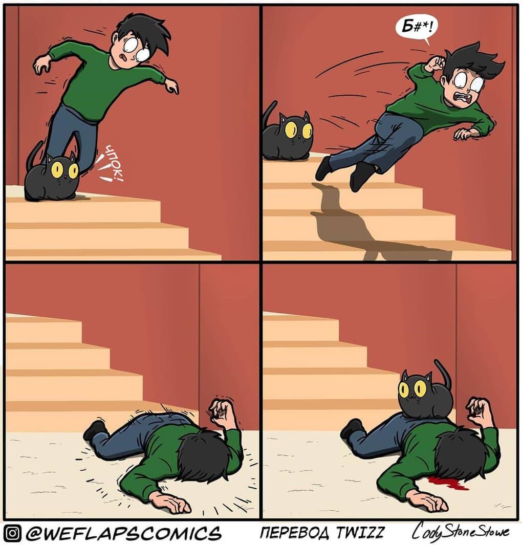 8 1 - 19 комиксов, которые демонстрируют, что жизнь с котом — это отдельная профессия